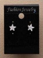 Clear stone star earrings (Code 0917)